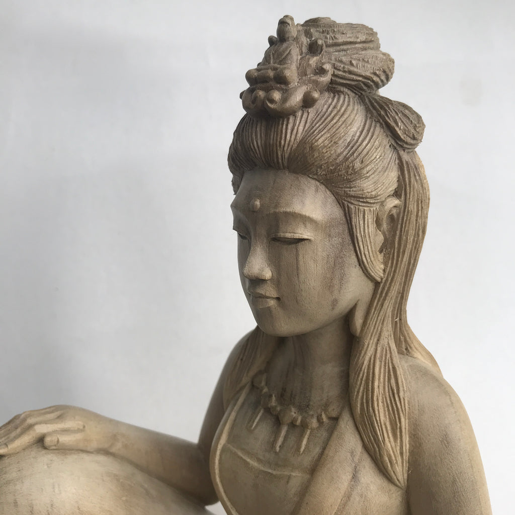 Quan Yin Royal Ease on Traditional Lotus Base