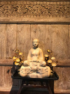 Patacara, a  6th century Buddhist Nun carved from Hibiscus wood.