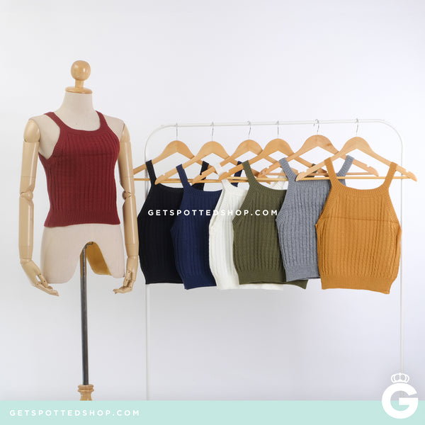 Chauncey Knitted Halter Top
