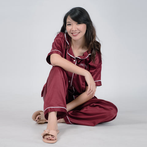 Catch Some ZZZs Pyjama in Maroon