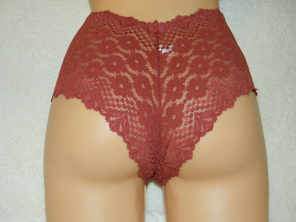 Handmade red,crotchless panties,lace,high waist,wedding,crotchless,shorts,lace panties,sexy lingerie woman,night thong,underwear