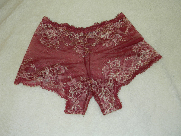 Handmade vinous,crotchless panties,lace,high waist,wedding,crotchless,shorts,lace panties,sexy lingerie woman,night thong,underwear