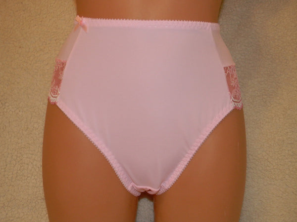NEW PINK,handmade high waist lingerie,plus size panties,Handmade panties,lingerie cross dressing,crotchless,lace lingerie,lace underwear