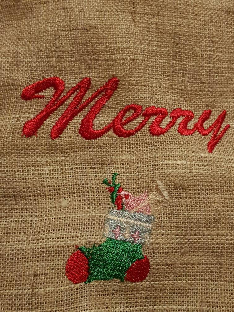 Christmas gift bag,embroidery,Christmas bag,personalized gift,personalized bag,surprise Santa,Christmas hat,Christmas candy,Christmas wand
