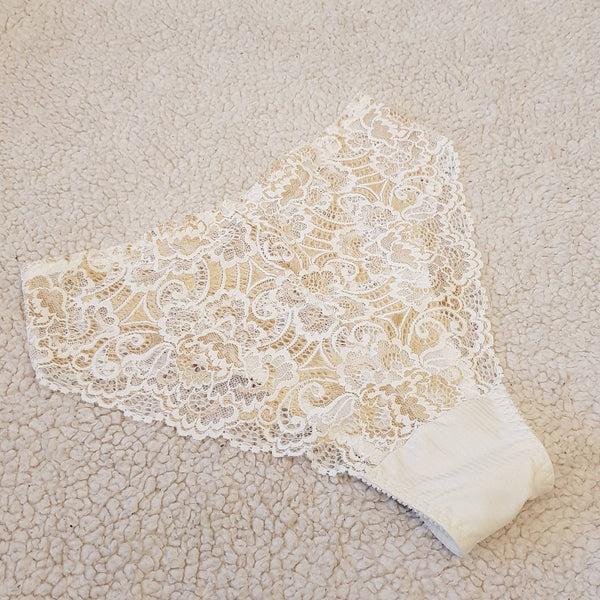 Lingerie lace,handmade white,crotchless panties,lace,high waist,wedding,shorts,lace panties,sexy lingerie woman,night thong,underwear,capron
