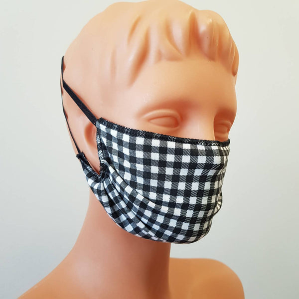 Handmade Plaid cotton face mask, cotton, one size, different colors, custom request