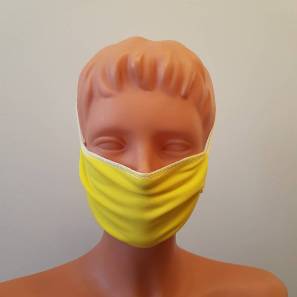 Handmade Yellow face mask, around head, cotton, one size, different colors, custom request
