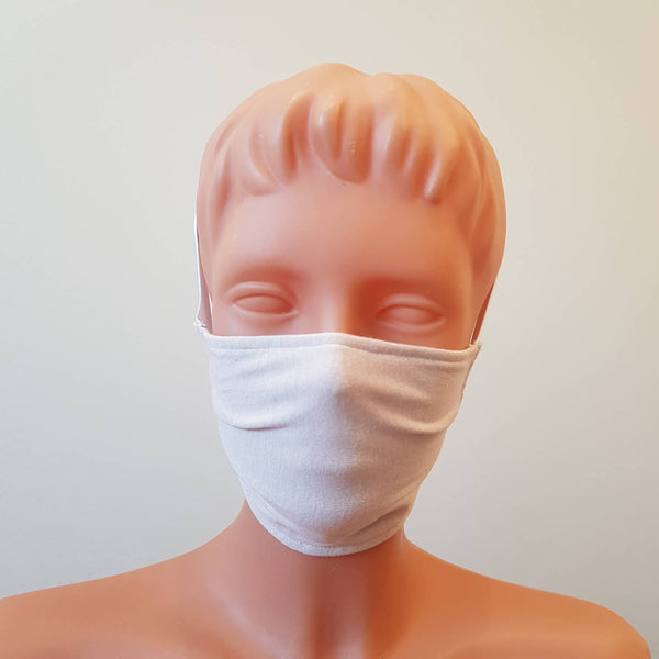 Beige cotton White wide elastic Handmade face mask, cotton, one size, custom request