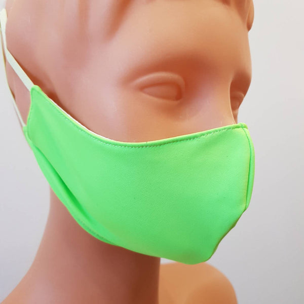 Handmade light green face mask, cotton, one size, different colors, custom request