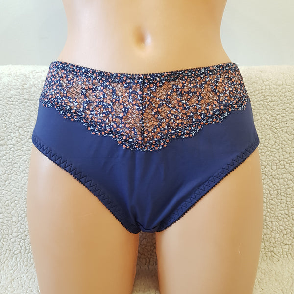 Blue panties Velvet lace Blue fabric Woman lingerie Underwear Nightwear Everyday lingerie