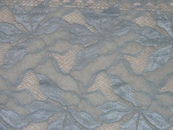 Wide lace, Stretch Lace, elastic blue color lace, elastic lingerie lace