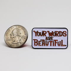 Beautiful Words Pin