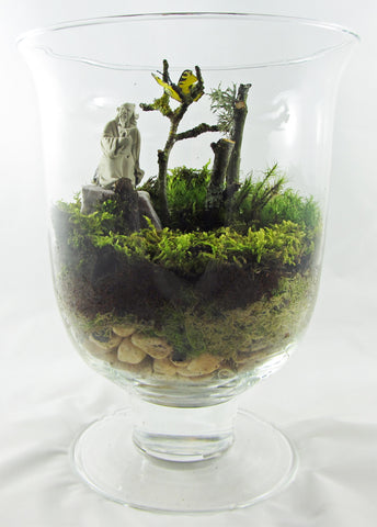 monk and butterfly oriental theme terrarium