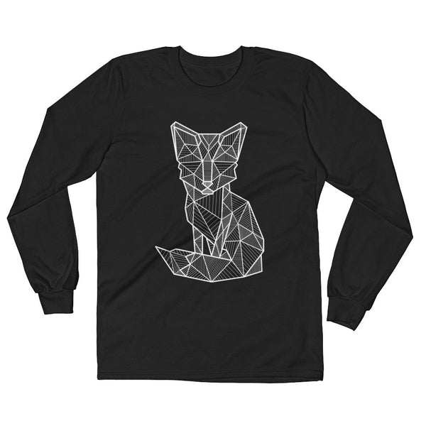 foxy art design long sleeve t shirt black