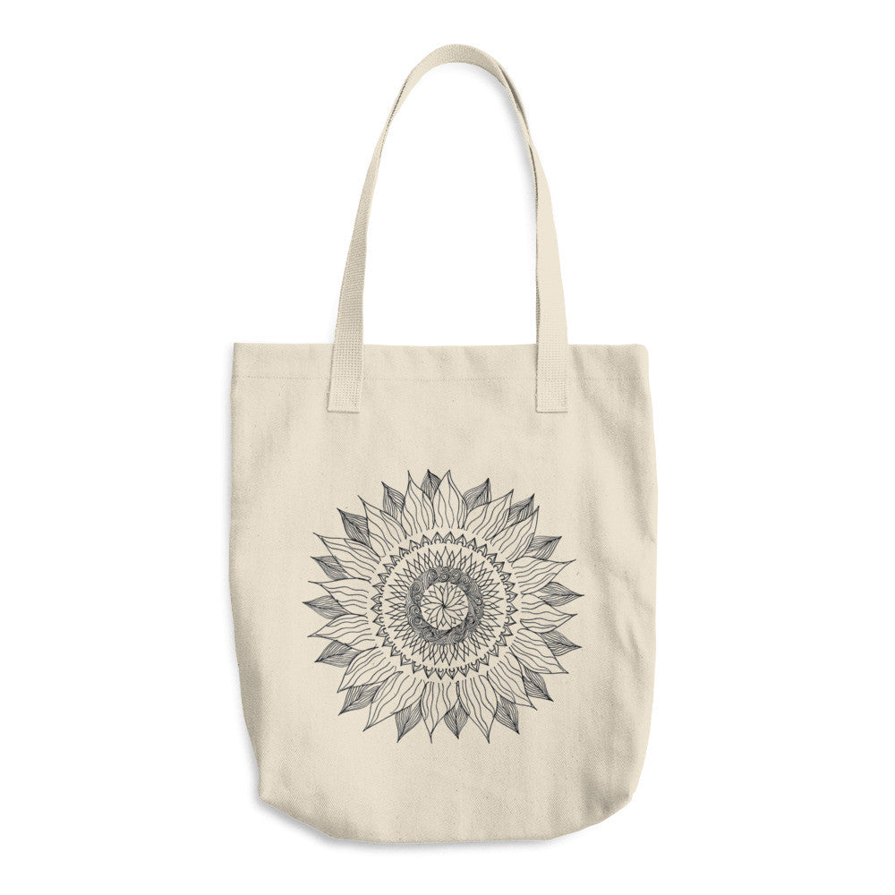 Suntangle Denim Cotton Tote Bag