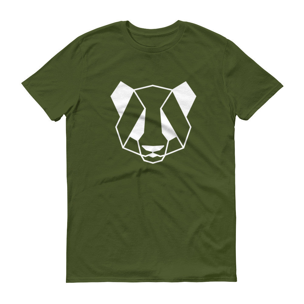 panda art design lightweight t-shirt green