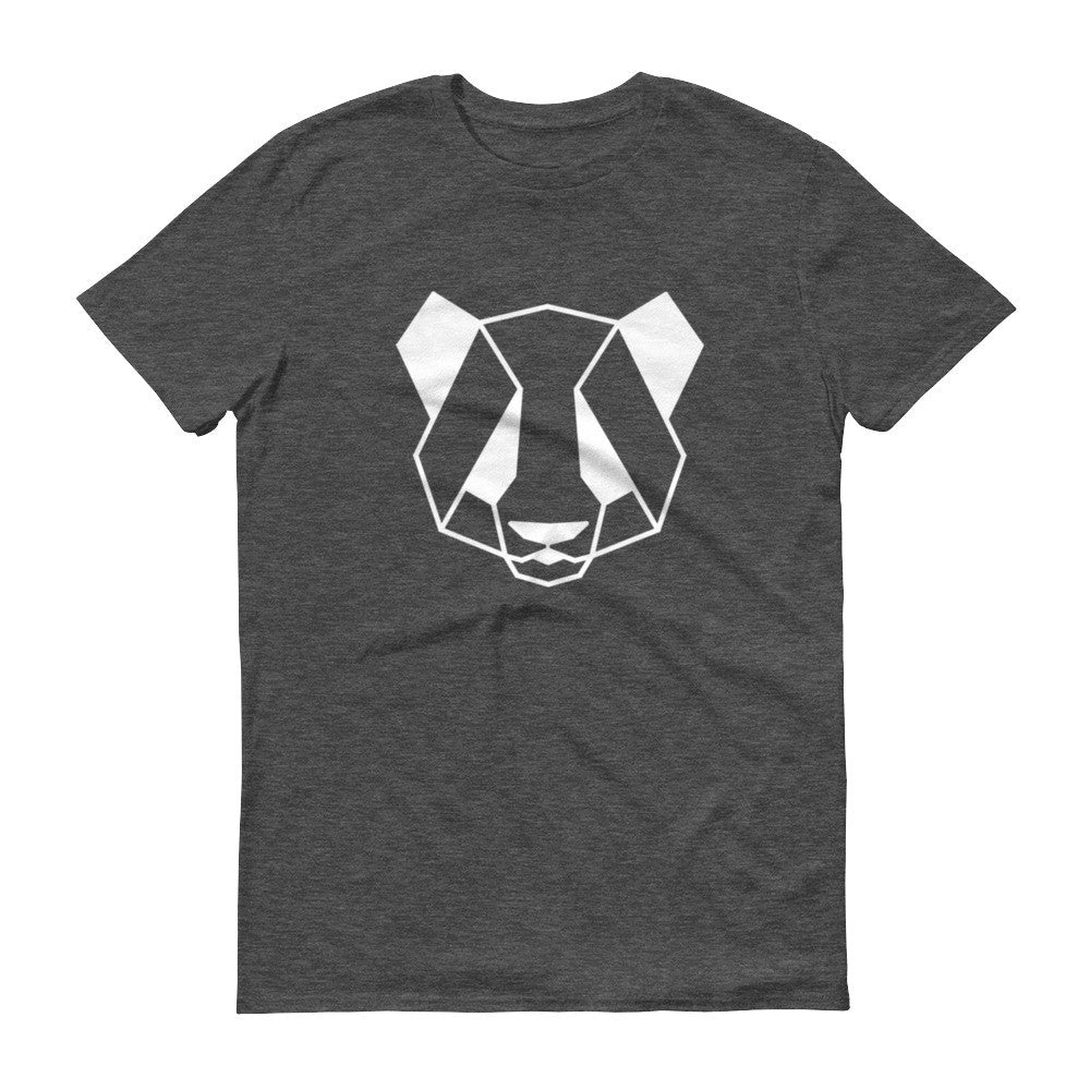 panda art design lightweight t-shirt grey