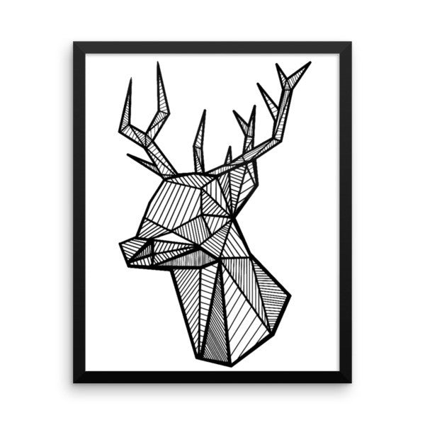 Geo Stag Framed Art