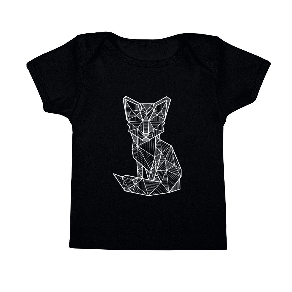 foxy art design baby infant t-shirt black