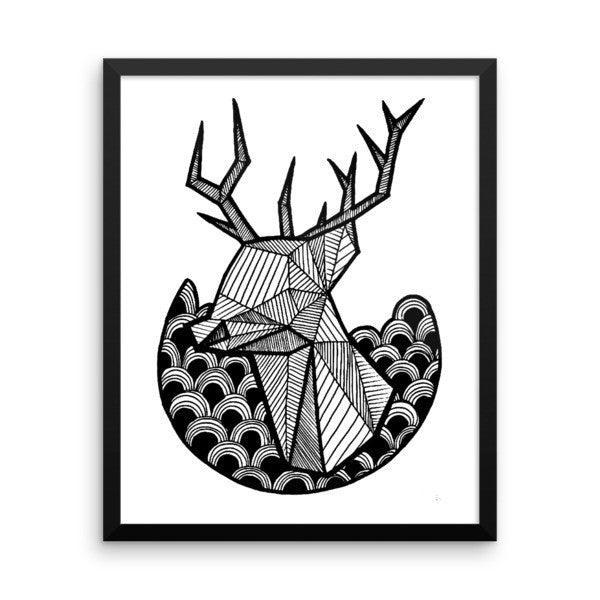 Stag Framed Art