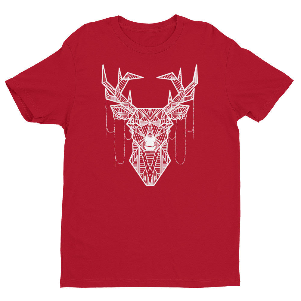 young buck art design t shirt red