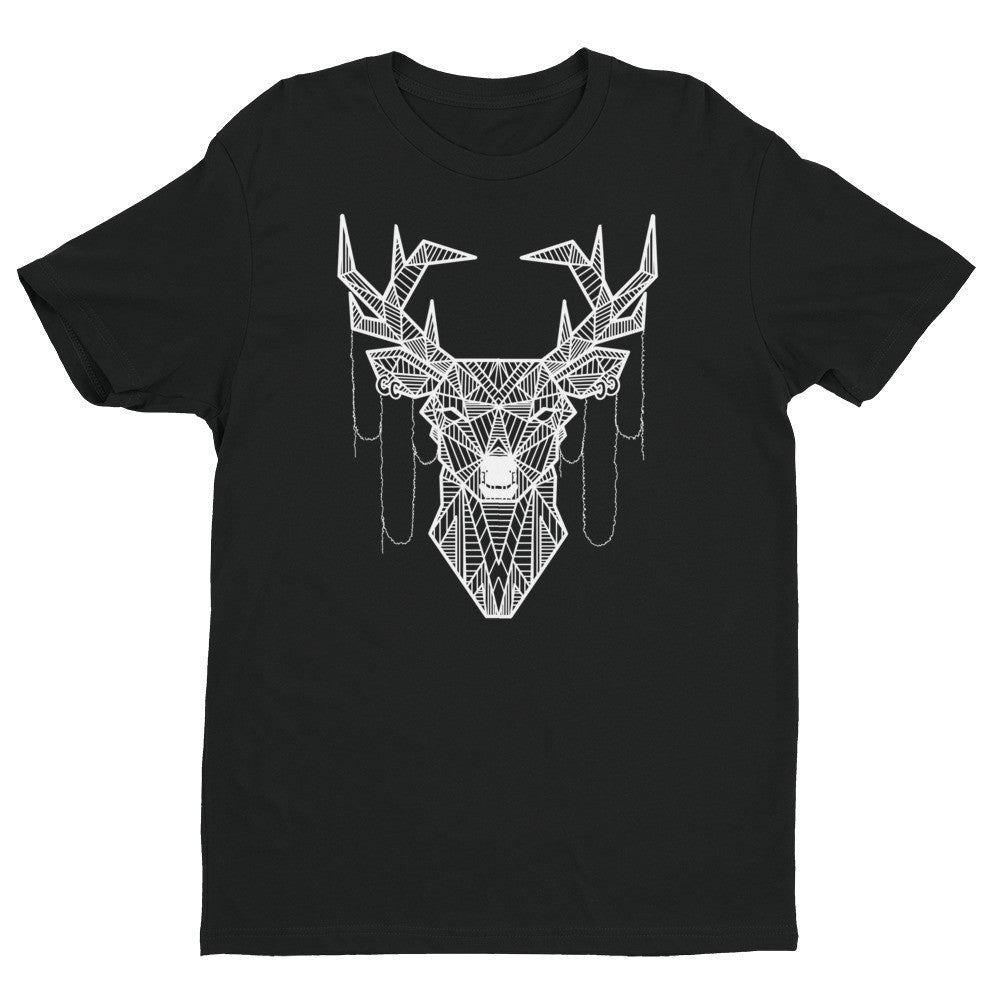 young buck art design t shirt black