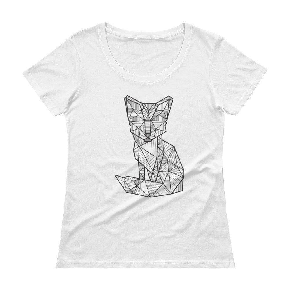 foxy art design scoopneck t shirt white