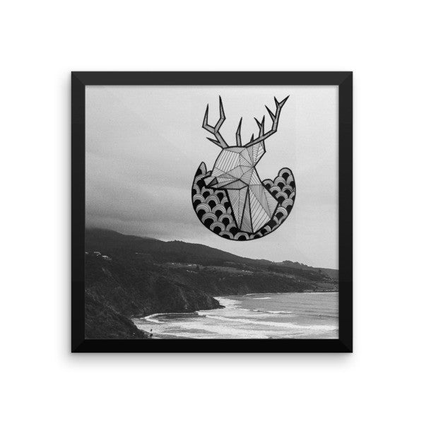 Stag Sea Framed Art