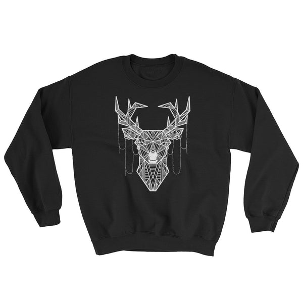 young buck art design raglan sweatshirt black