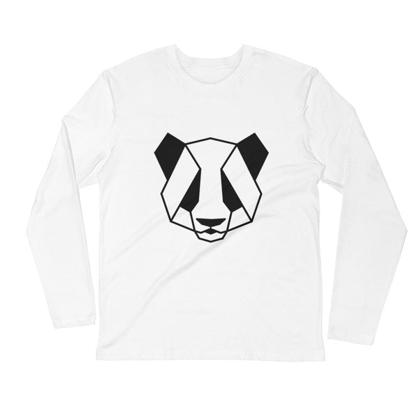 panther art design long sleeve t shirt white