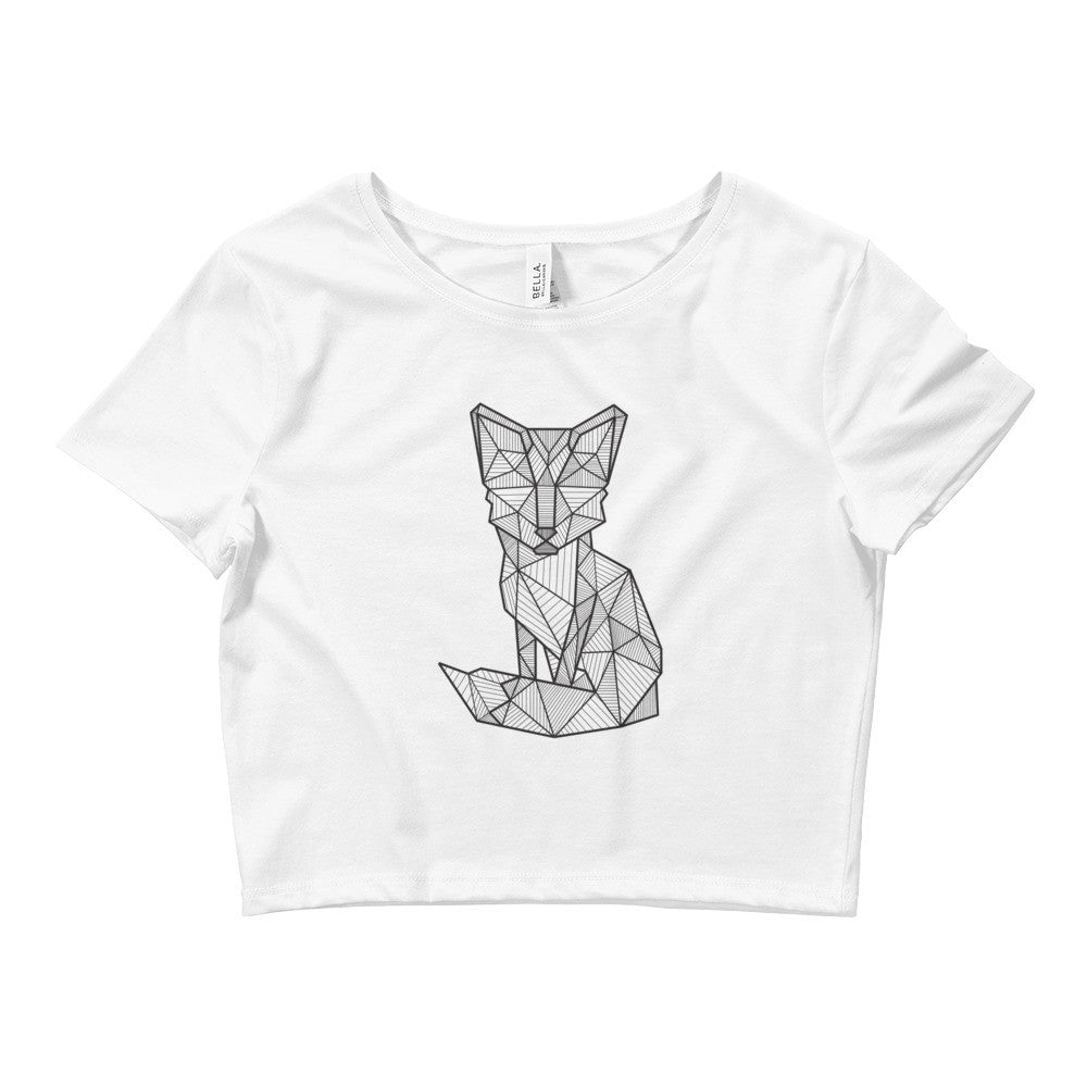 foxy art design crop top t shirt white