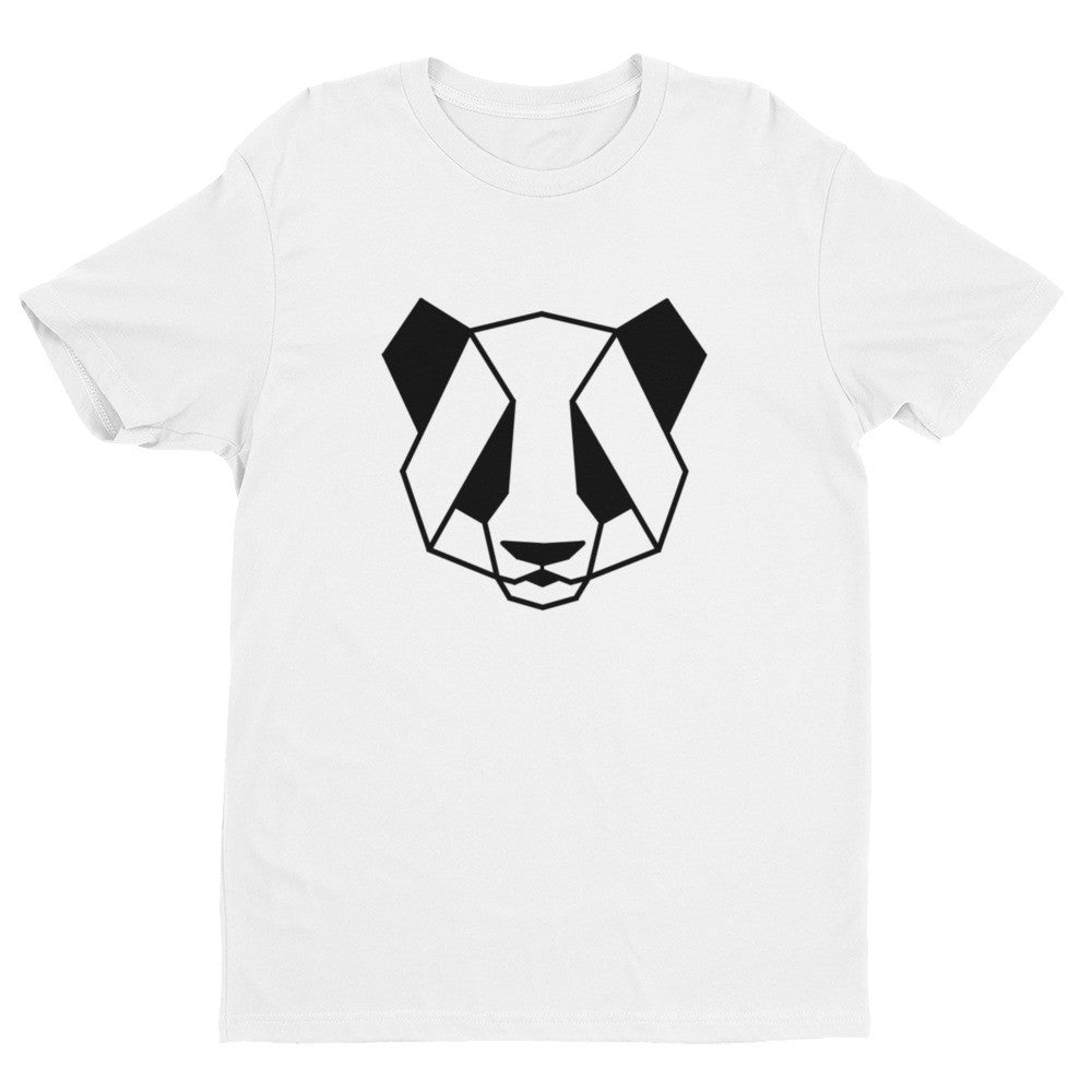 panda art design t-shirt white
