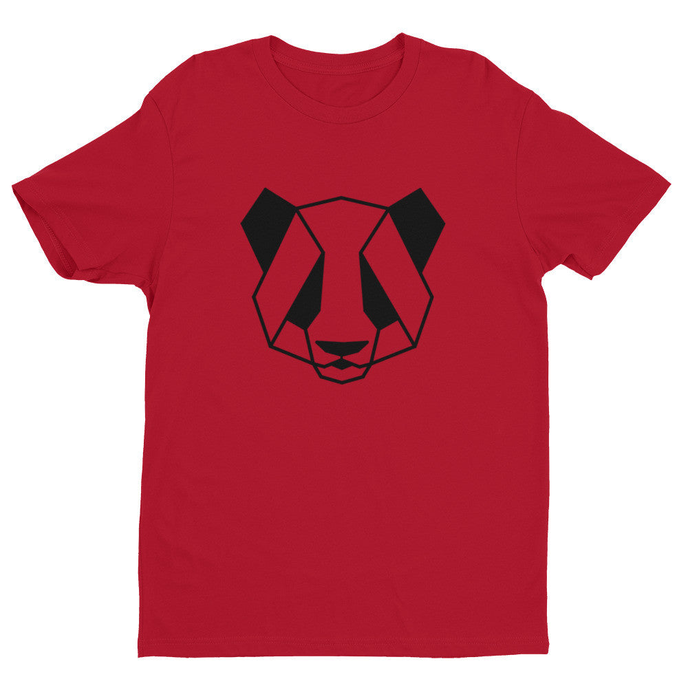 panda art design t-shirt red