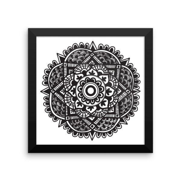 Mandala Framed Art