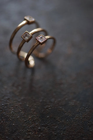 Shining 3-layer Ring in Gold