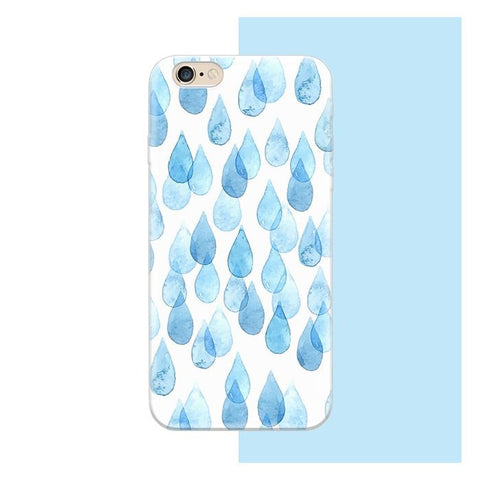 Blue Drops Ultra Slim Case for iPhone 6S/ 6S Plus (soft)