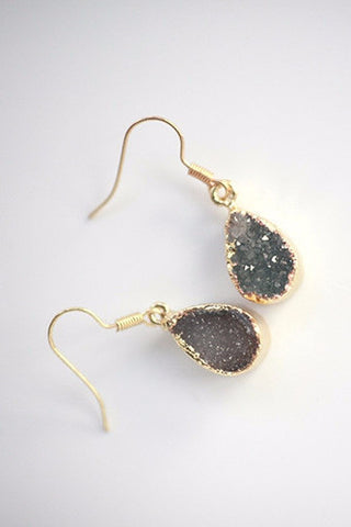 Grey Quartz Earring