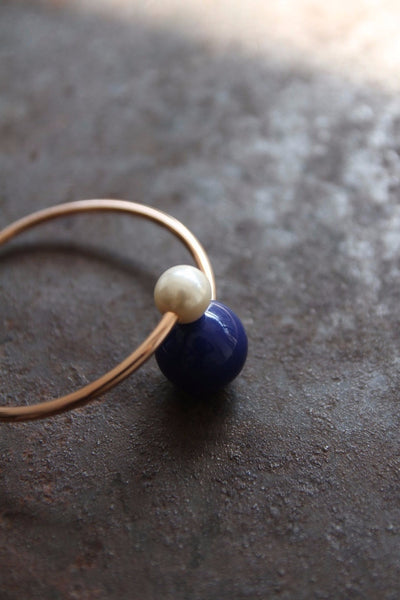 Trendy 'Blue and White' Bracelet Bangle