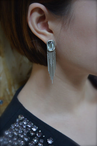 Metallic Tassel Dangling Earrings