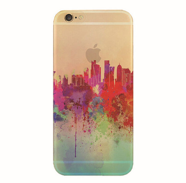 Graffiti City Skylines Soft Case for iPhone 6S/ 6S Plus (Ultra slim/ anti-dust cover protection)
