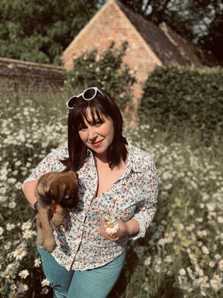 WILDFLOWERS & A NAUGHTY PUPPY