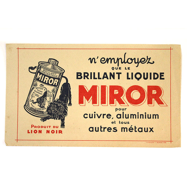 VINTAGE FRENCH ADVERTISING PRINT