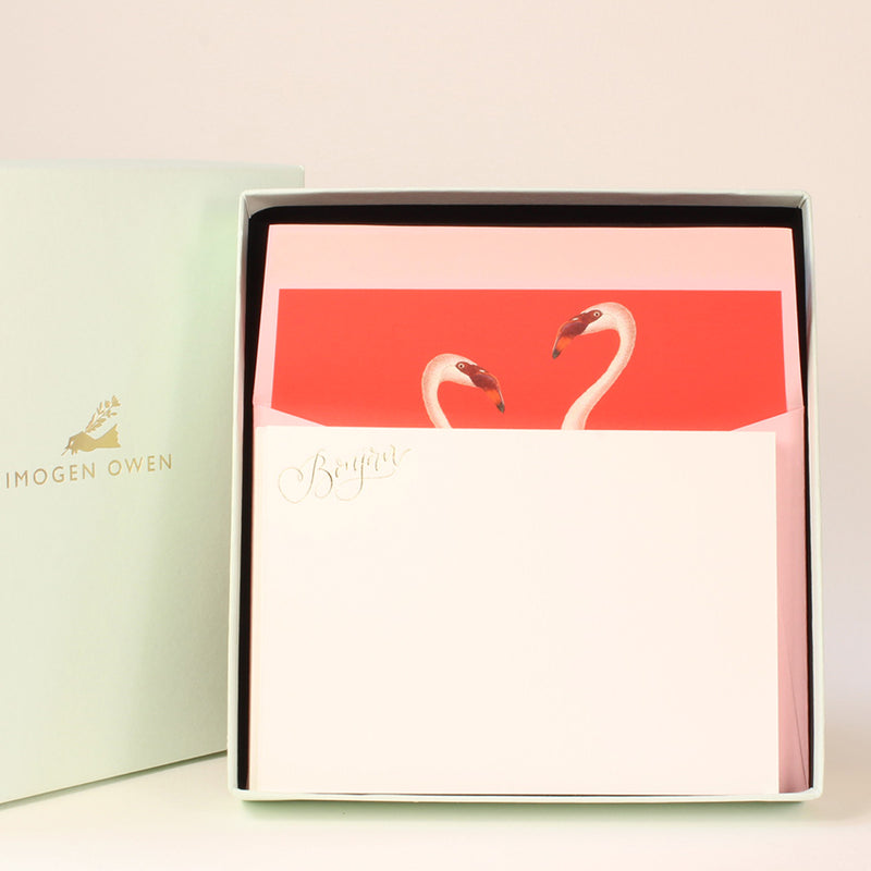 LUXURY CORRESPONDENCE SET - FLAMINGO
