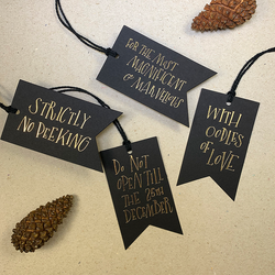 LUXE CHRISTMAS GIFT TAGS (BLACK)