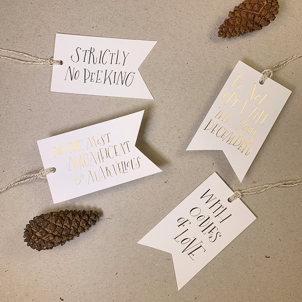LUXE CHRISTMAS GIFT TAGS (WHITE)