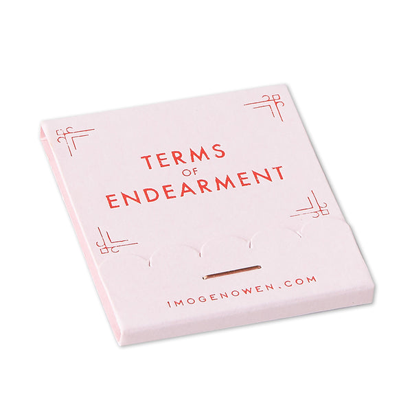 TERMS OF ENDEARMENT MATCHBOOK