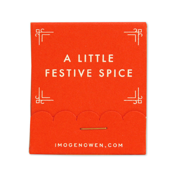 FESTIVE SPICE MATCHBOOK