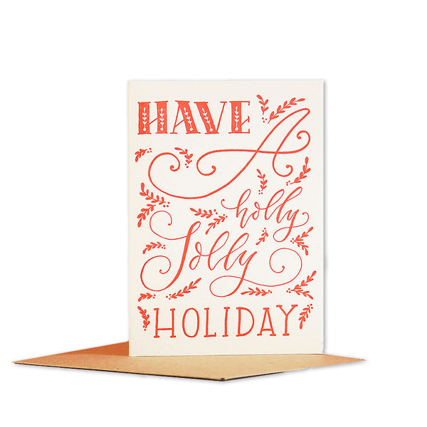 HOLLY JOLLY HOLIDAY MINI CARD
