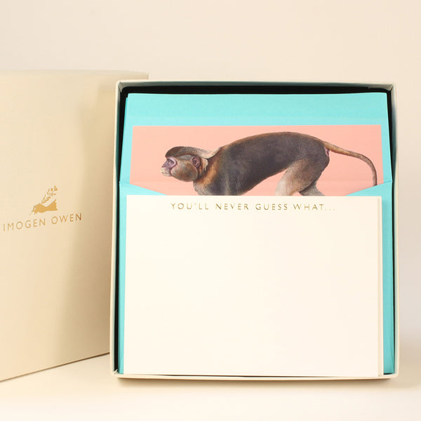 LUXURY CORRESPONDENCE SET - MONKEY