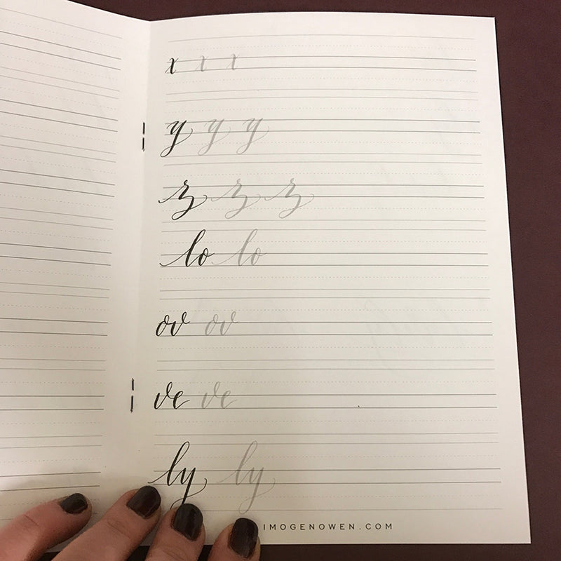 MODERN CALLIGRAPHY LETTERFORMS PRACTICE BOOK